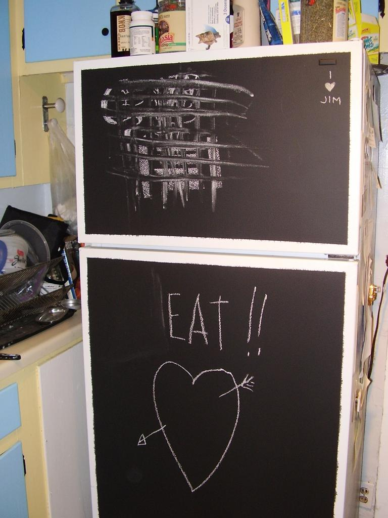 chalkboard fridge magnet