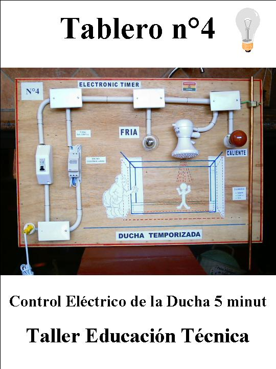 Diagrama Instalacion De Regadera De Baño:tablero n 4 control eléctrico de la ducha 5 minut control de tiempo