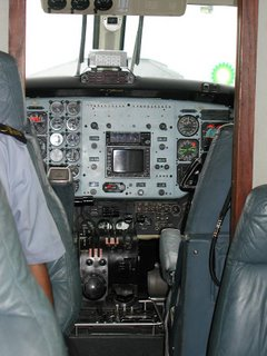 RNZAF Kingair B200 cockpit