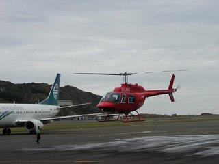 Helipro Jetranger II arrival