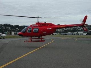 Helipro Jetranger II arriving