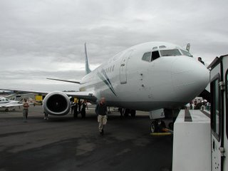 Air New Zealand B737 from the outside