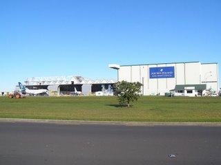 Air NZ B747 in maintenance