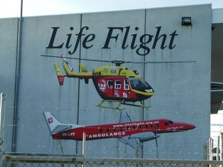 Lifeflight hanger wall mural