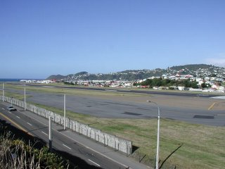 Wellington Airport from threshold rwy 16 towards the south