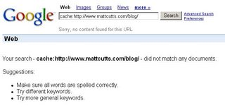 Matt Cutts Cache