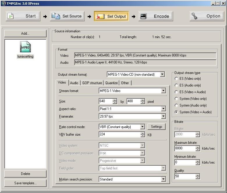 Template tmpgenc 3.0 xpress rsvcd dsvcd tvcd mvcd