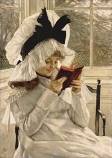 Reading a Book_James Tissot