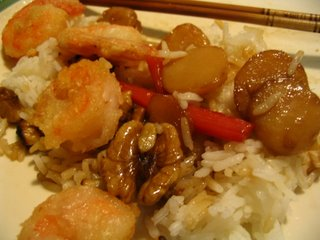 Stir Fried Shrimp with Walnuts