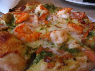 Shrimp Pesto Pizza from Leucadia Pizzeria
