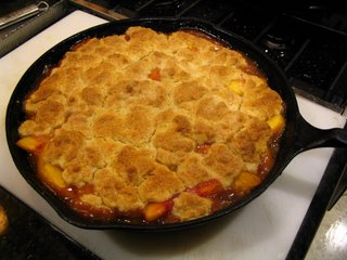 Ginger Peach Cobbler