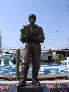 Sponge Diver Statue in Tarpon Springs, FL
