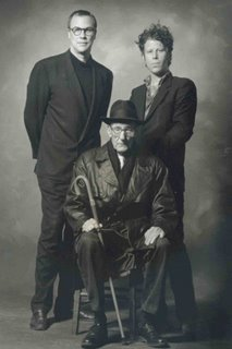 Robert Wilson, William S. Burroughs y Tom Waits en 1990