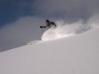 Mike skiing Utah powder - in April!