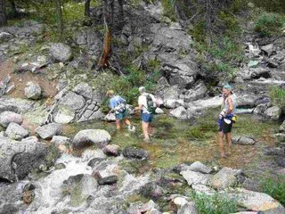 Beartooth Creek crossing during the Old Gabe 50K Trail Run