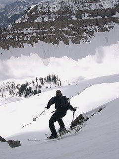Skiing Timpanogos East Ridge in Utah