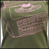 Green Typewriter T-Shirt