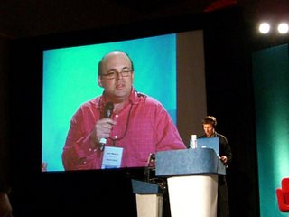 Larry Marcus judging online music startups at OnHollywood 2006