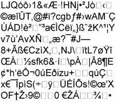 Encrypted gibberish