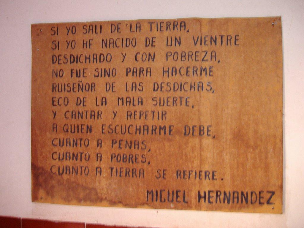 Miguel hern ndez for Exterior no es la voz es clamor desde el alma