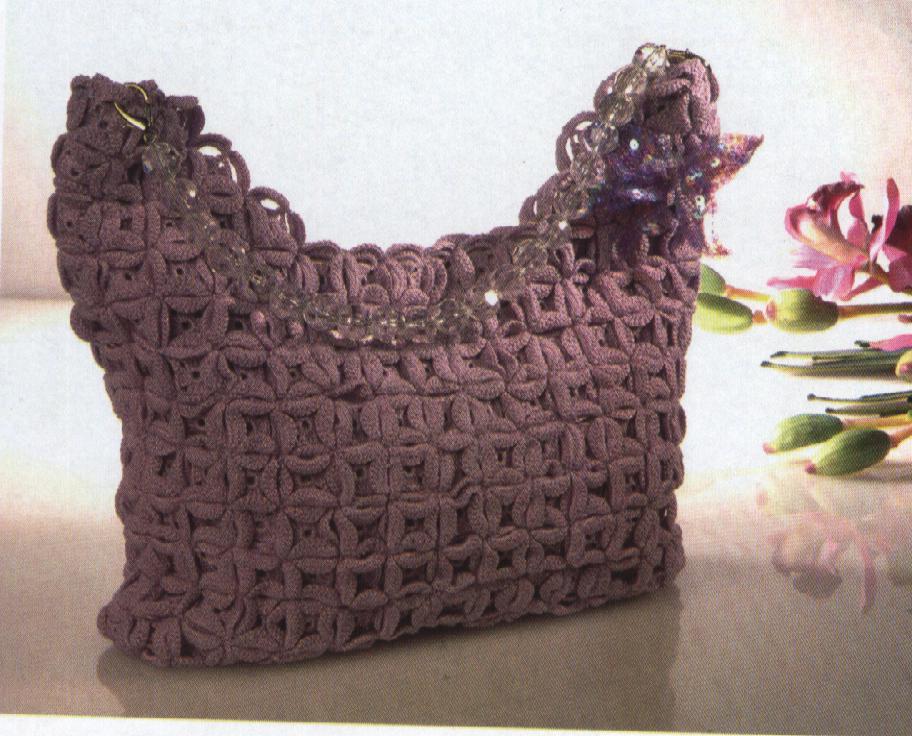 Patrones 1 bolso violeta - Dibujos de ganchillo ...