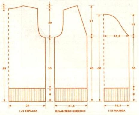 Patrones: 9. CHAQUETA CON CINTURÓN (talla 40)