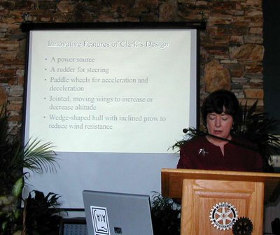 Sylvia Turnage at the White County Rotary Club, 9/26/06