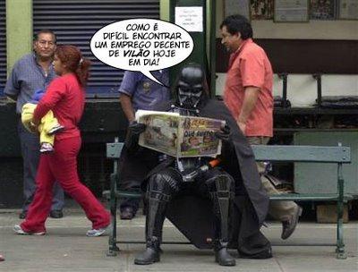 Darth Vader procurando Emprego