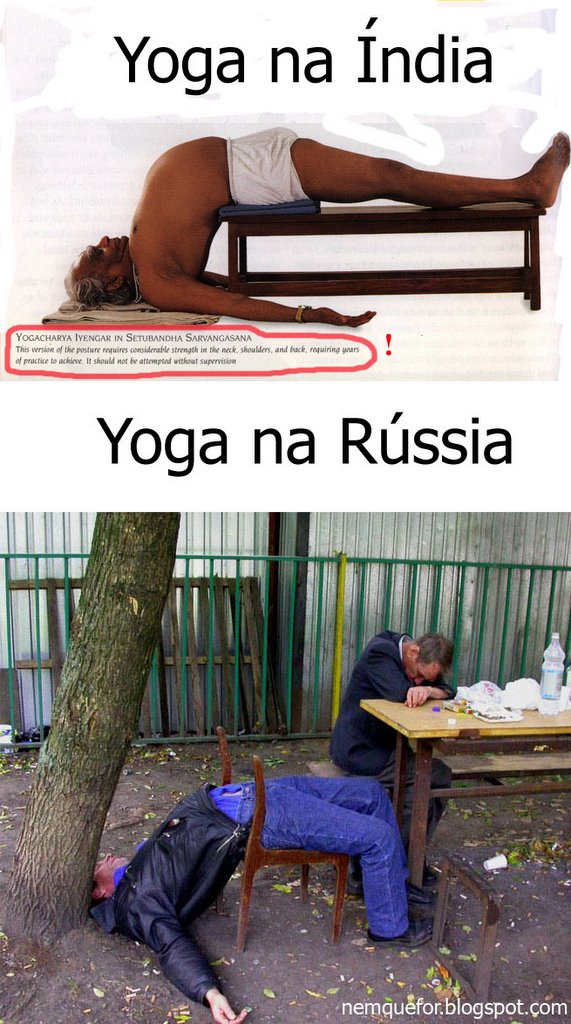 Yoga na Índia X Yoga na Rússia