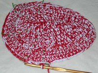 crocheted hat in progress