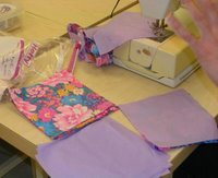 sewing quilt squares