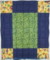 Super sized 9-patch quilt with fish #2