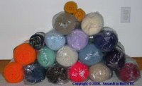 stack of yarn