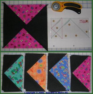 Flying Geese quilt blocks