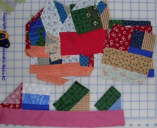 Mile a Minute quilt pieces