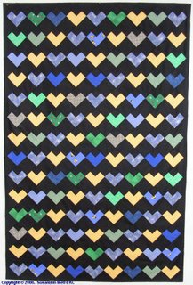 scrappy hearts quilt top