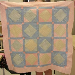 square in a square quilt top