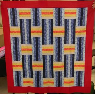 quilt top with woven design