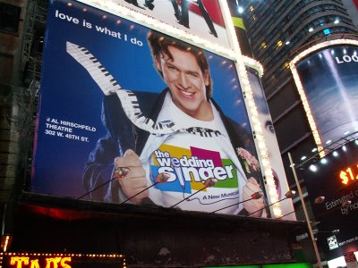 the wedding singer, broadway musical, al hirschfield theatre, 302 W.45th st, nyc, ny