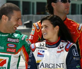 Tony Kanaan With Danica Patrick