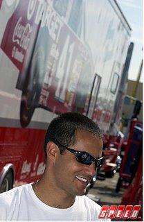 Montoya In Ganassi NASCAR Garage