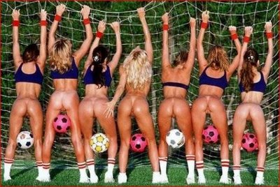 Sexy Booty Babes with soccer balls