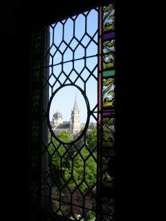Église Notre Dame vue du château Raoul