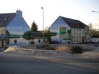 Rond point avenue des Marins, route de Chatellerault