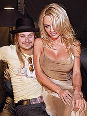 Pamela Anderson and Kid Rock had a wedding ceremony Saturday on a yacht