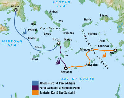 Map of greece is not chicago we are sailing from santorini to paros this map doesnt show it but there are dozens of islands in between and im sure tons of ridiculousness gumiabroncs Choice Image