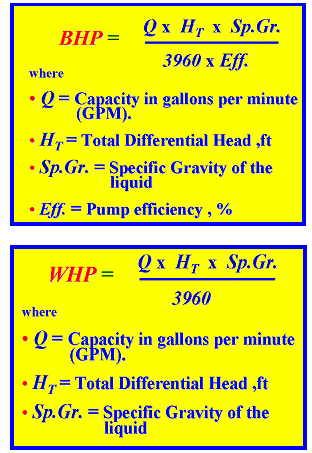 pump head calculation formula pdf