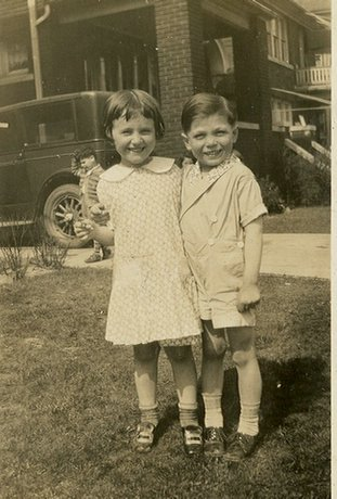 My cousin, Betty Gay and I, Robert Dodd at age about 5