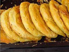 The Guokui pastries on display