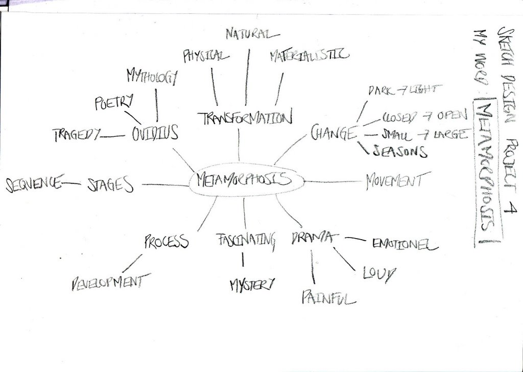 1step spider diagram with my word metamorphosis ccuart Image collections
